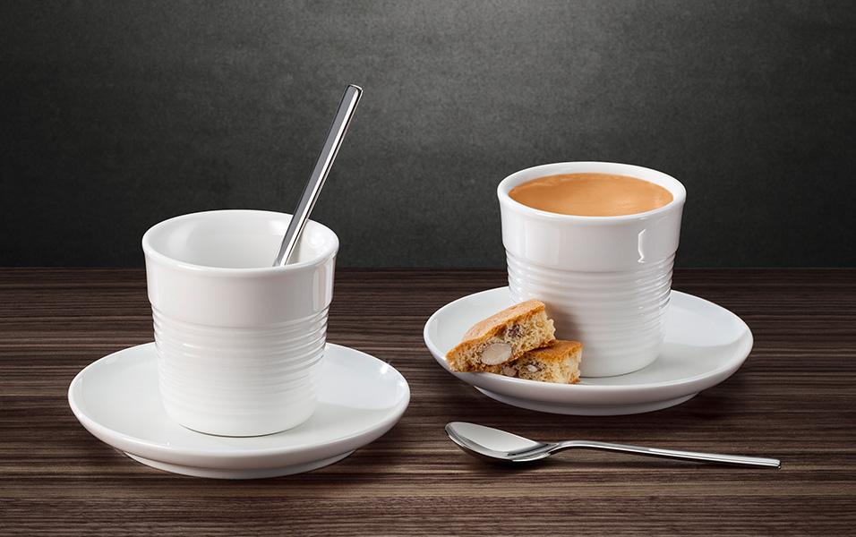 6er Set weiß Kaffee Becher Kaffeetasse Cappuccino Tasse /& Untertasse 200 ml